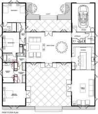 Elegant H Shaped Ranch House Plans