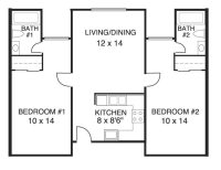Elegant House Plans 2 Bedrooms 2 Bathrooms - New Home ...