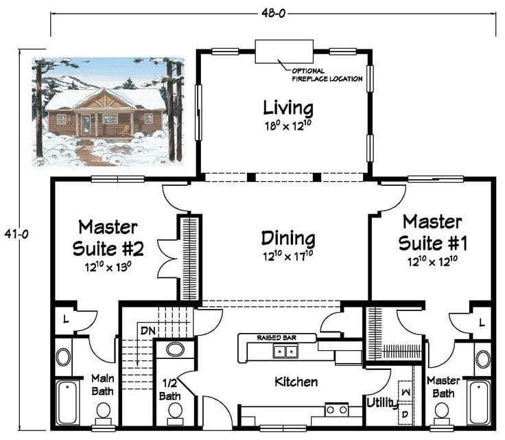 Beautiful House Plans With Two Master Bedrooms New Home