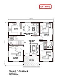 Elegant Kerala Model 3 Bedroom House Plans