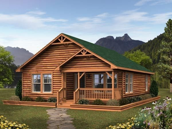 Wow Log Cabin Modular Homes Floor Plans  New Home Plans