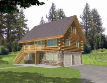 Cabin House Plans with Garage