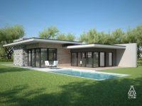 Modern Flat Roof House Plans New Modern Single Story House ...