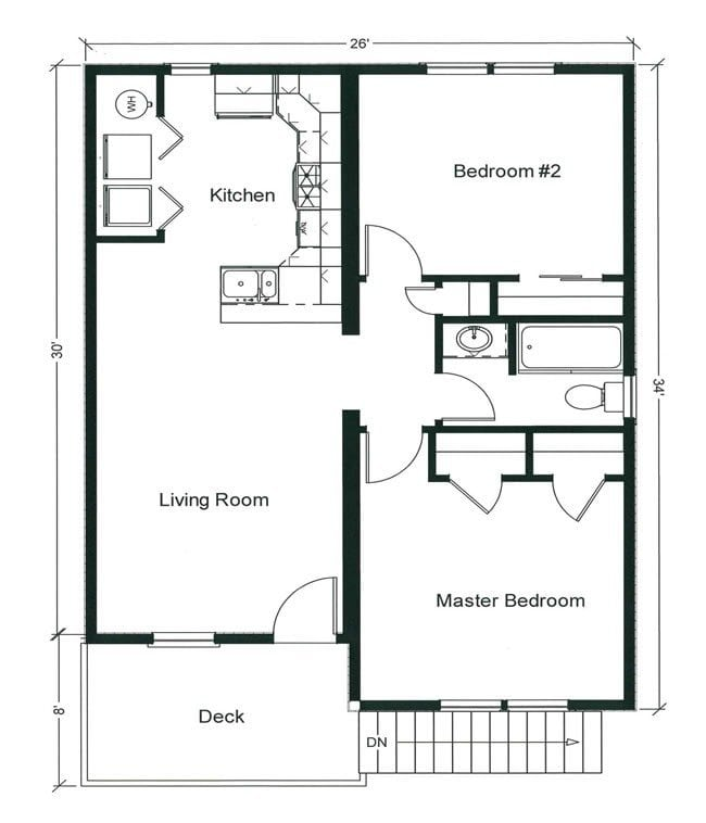 2 bedroom bungalow plans canada for 4 bedroom house plans canada