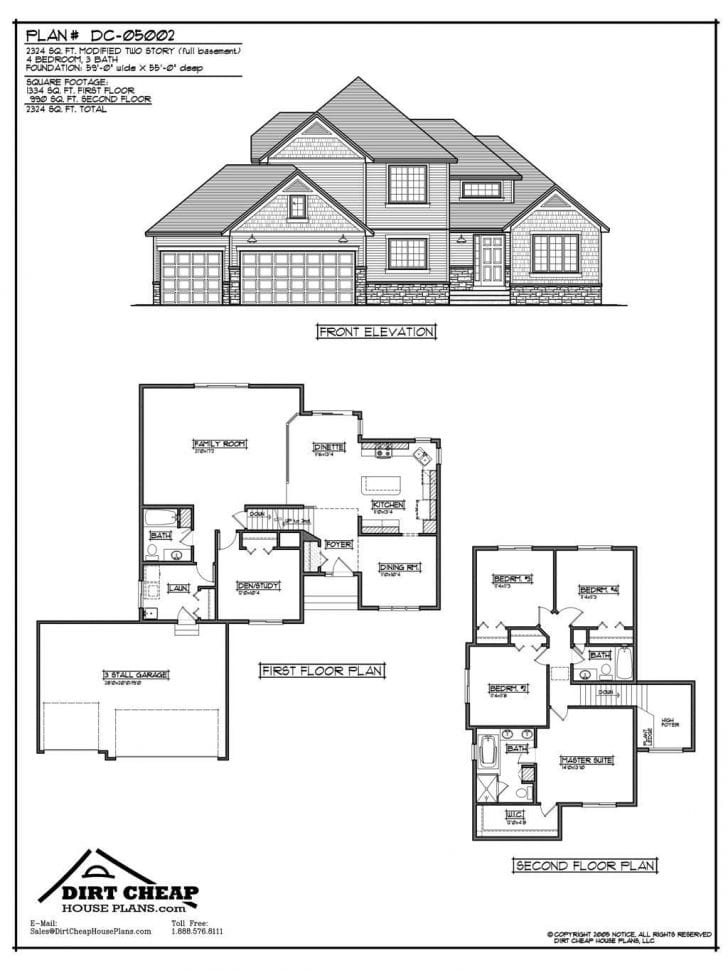 two story house floor plans with basement Archives
