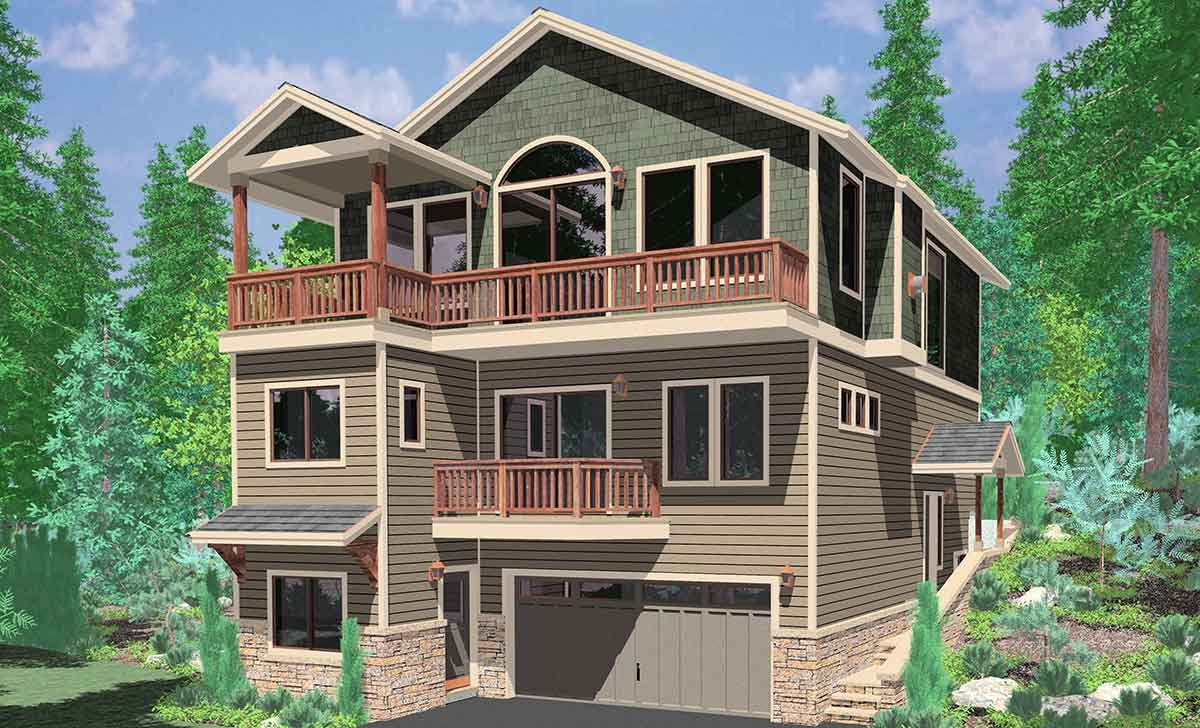3 Story House Plans with Walkout Basement Awesome Amazing