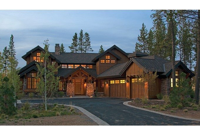 Lovely Craftsman Lodge House Plans  New Home Plans Design