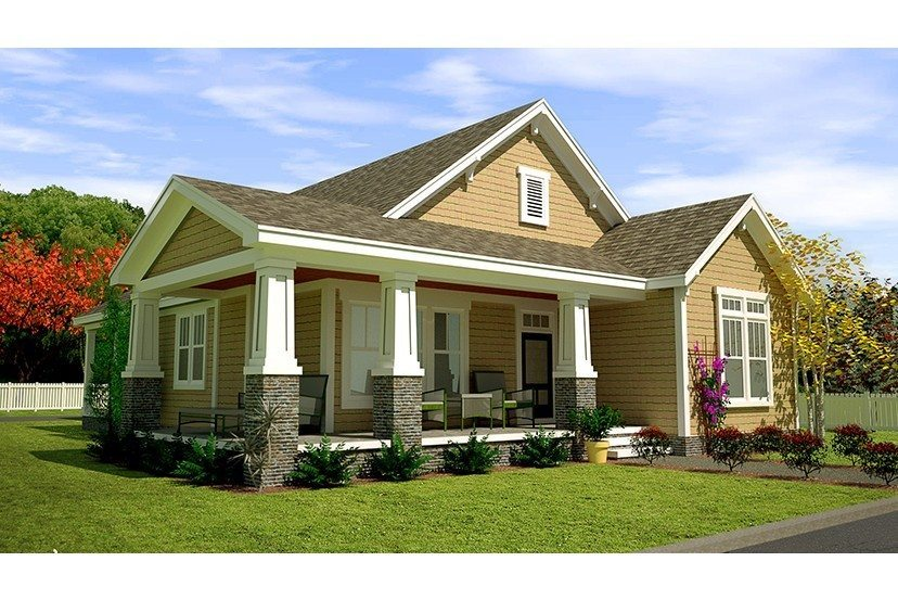 Elegant Craftsman Style House Plans with Wrap Around Porch