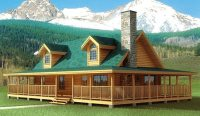 The Best Of Log Cabin House Plans with Wrap Around Porches ...
