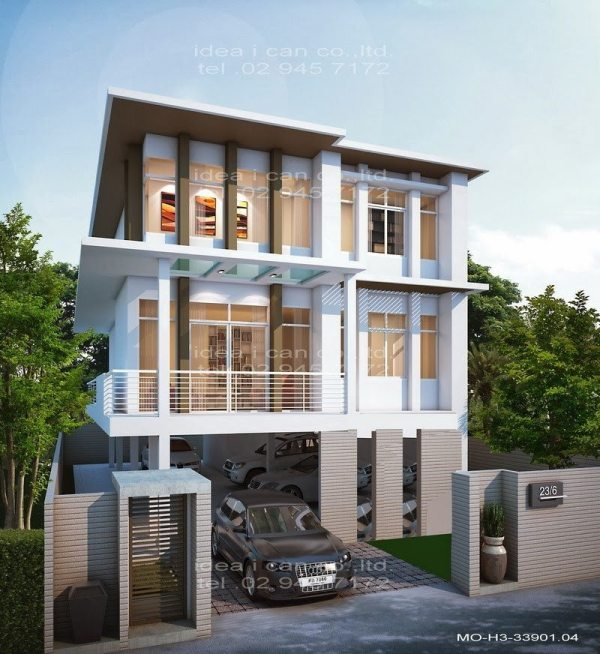 3-Story Contemporary House Plans