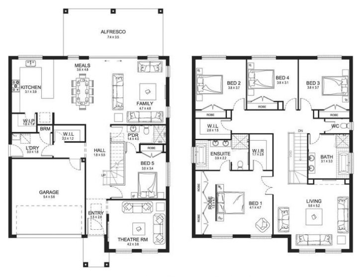 Elegant Modern Double Storey House Plans
