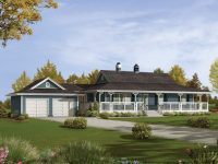 Lovely Ranch House Plans with Wrap Around Porch - New Home ...