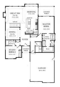 Exceptional Two Bedroom House Plans with Basement