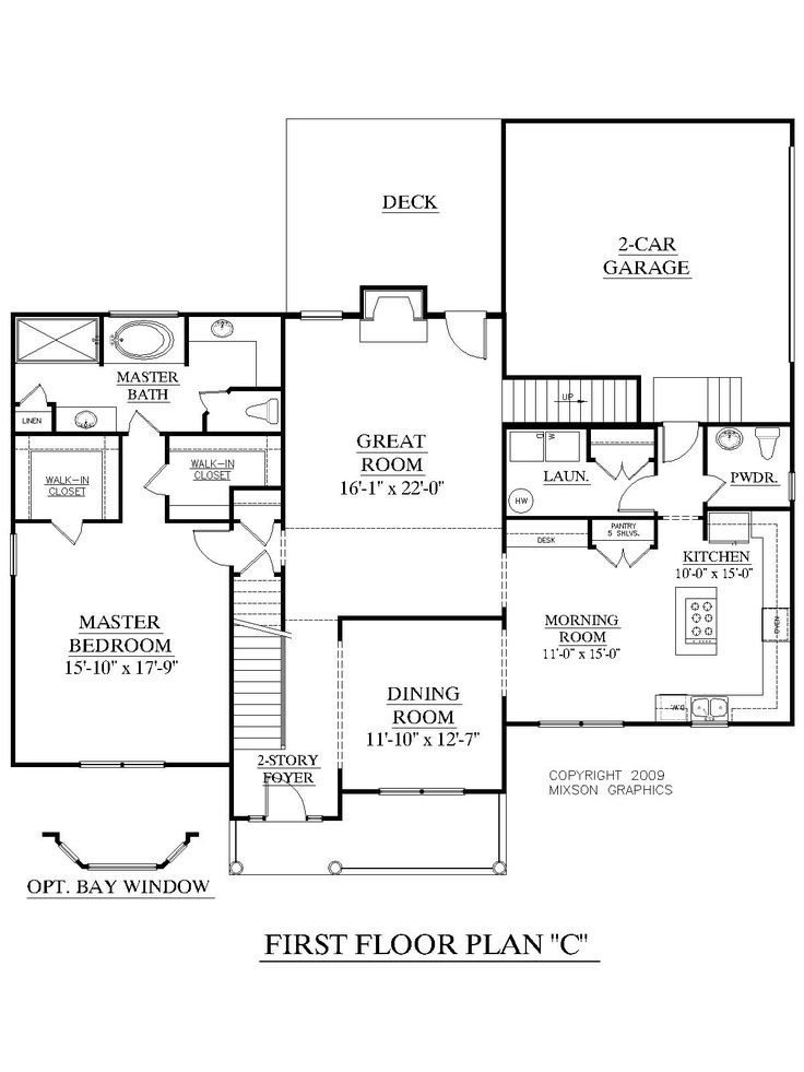 New Two Story House Plans with Master Bedroom On First
