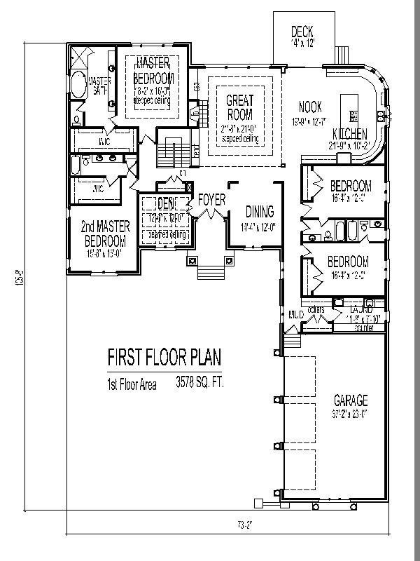 Exceptional 4 Bedroom House Plans One Story with Basement