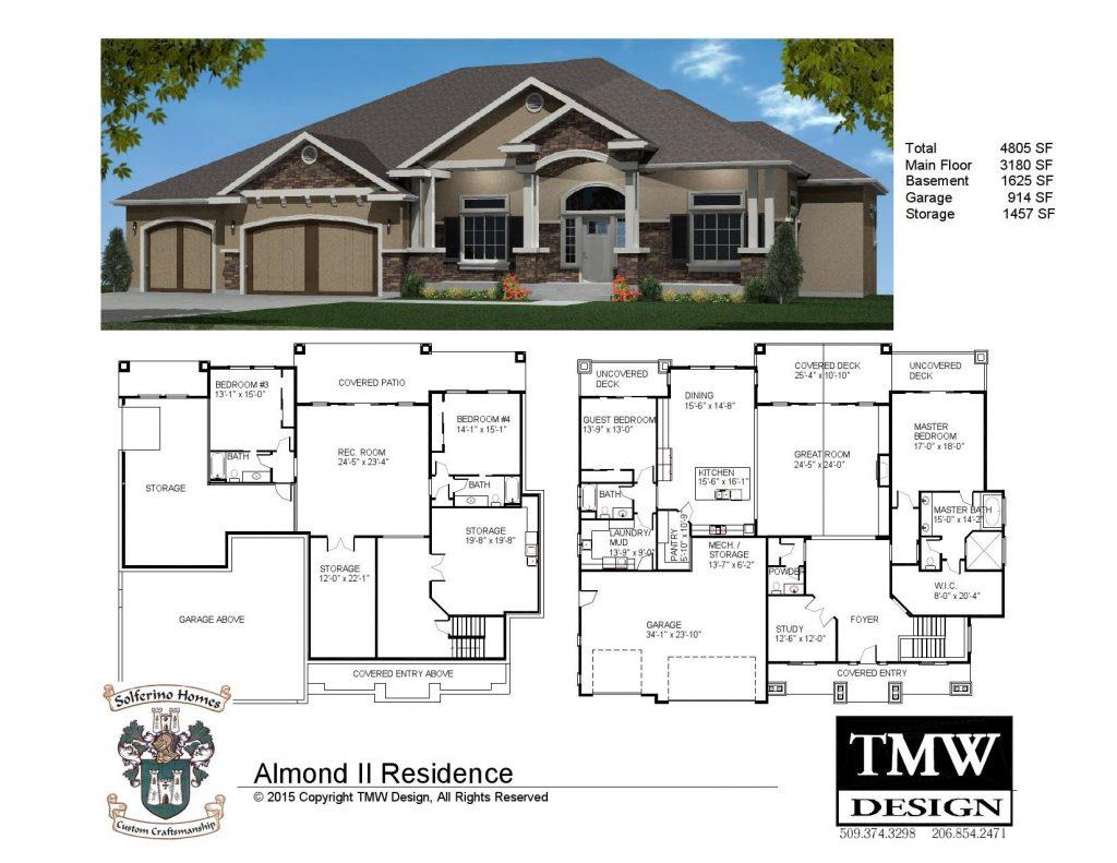 House Plans with Daylight Basements Elegant Rambler