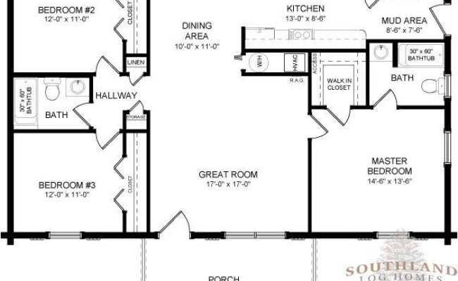 Wow One Story Log Cabin Floor Plans New Home Plans Design