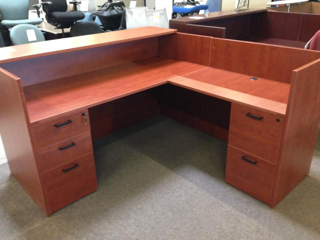 NEW Cherryman Amber Reception Desk  Arizona Office Furniture