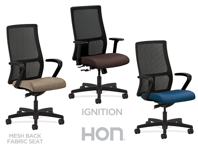 hon ignition fabric chair tall dining table and chairs mesh back seat arizona office furniture