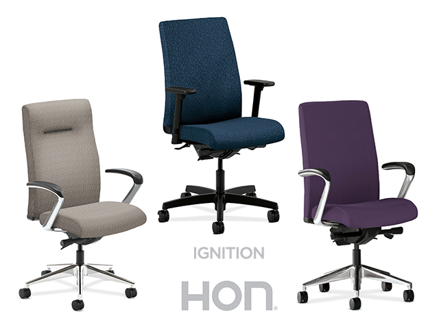 hon ignition fabric chair desk on carpet high backoptions arizona office furniture