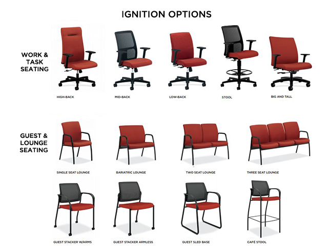hon guest chairs chair rentals miami ignition mid back arizona office furniture task
