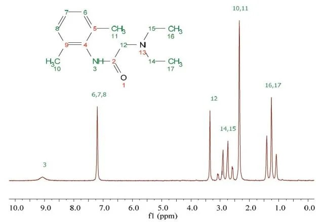 An Introduction To Nmr On Lidocaine Molecules