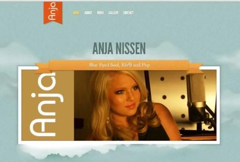 AnjaNissen.com website official blue eyed soul R&B pop teenager blonde girl microphone