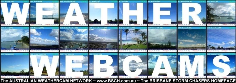 The Australian Weathercam Network webcams website Brisbane storm chasers live storms sky cloud cams 13August2014