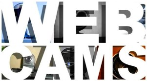 Webcams cover header banner web cam photos big bold white type heading pics