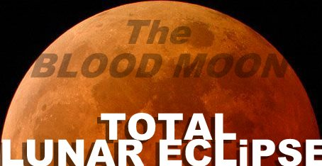 Total Lunar Eclipse full Moon Blood Moon orange red crop type