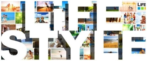 Lifestyle header banner cover photos images pics bold white type