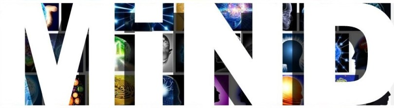 Mind heading banner cover photos brain head images bold white type