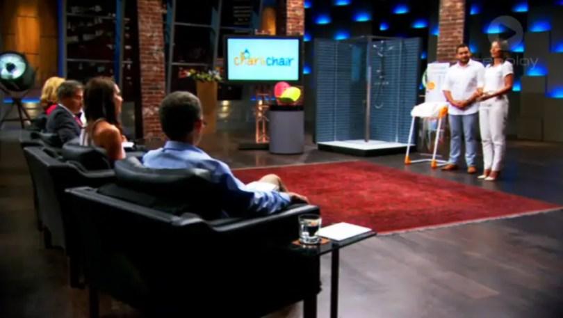 Shark Tank Hani & Meray Yasa CharliChair presentation series 1 episode 9 Sunday 12 April 2015 Australian Channel 10 TenPlay