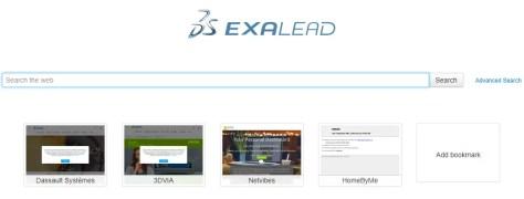 Exalead internet search engine 2018 website screenshot