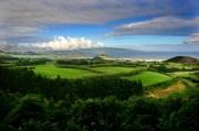 Die schöne Landschaft der Inseln