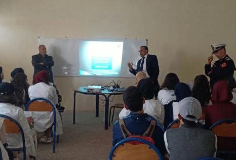 حملة تحسيسية للأمن الوطني بالثانوية الإعدادية مولاي بوشعيب بازمورحول مخاطر المخدرات
