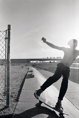"""Found this pic on google with this caption, """"1988. The legendary Hohokam ditch, the setting Phoenix sun and a punk haircut."""" Skater and photographer unkown"""