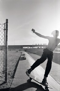 "Found this pic on google with this caption, ""1988. The legendary Hohokam ditch, the setting Phoenix sun and a punk haircut."" Skater and photographer unkown"