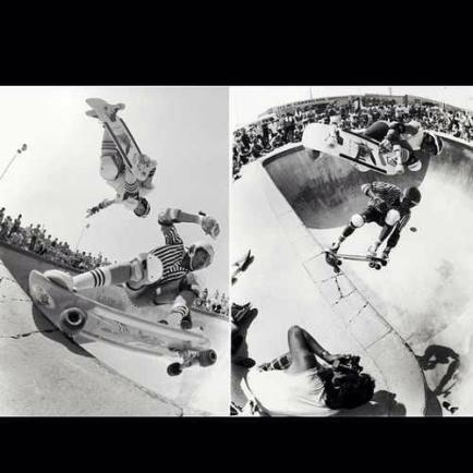 This is pretty cool. Two photos of the same moment. Mike McGill flying over Steve Steadham. Left photo: Mörizen Föcheright photo: Grant Brittain