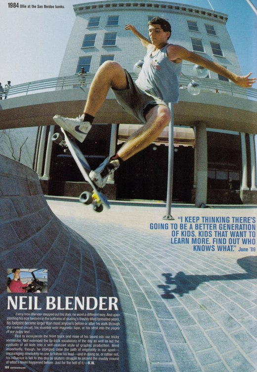 Blender ollies at the San Berdoo banks