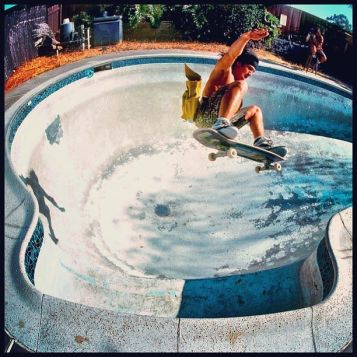 Christian Hosoi Dave Ruel's pool early 90's Photo: Grant Brittain