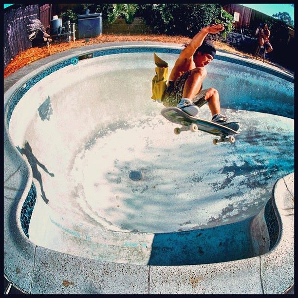Christian Hosoi Dave Ruel's pool early 90's Photo: Grant Brittain