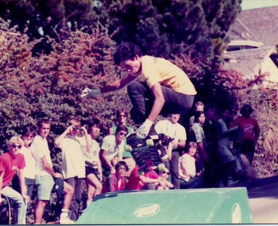 Tommy Guerrero Capitola streetstyle contest either summer of '85 or '86 Photo: Dan Sparagna