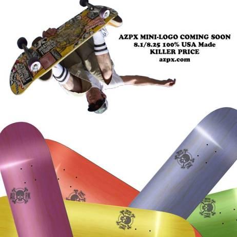 #AZPX Mini-Logo Coming Soon! 8.1/8.25 100% #USAMade #arizona #punx #skateboards azpx.com