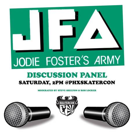 Very rare opportunity to come hear what Brian, Don and Michael, Carter and Corey have to say about all things #jfa at #phxskatercon Saturday, 2pm. Moderated by Steve Shelton and yours truly. #azpx #arizona #punx #skaterock