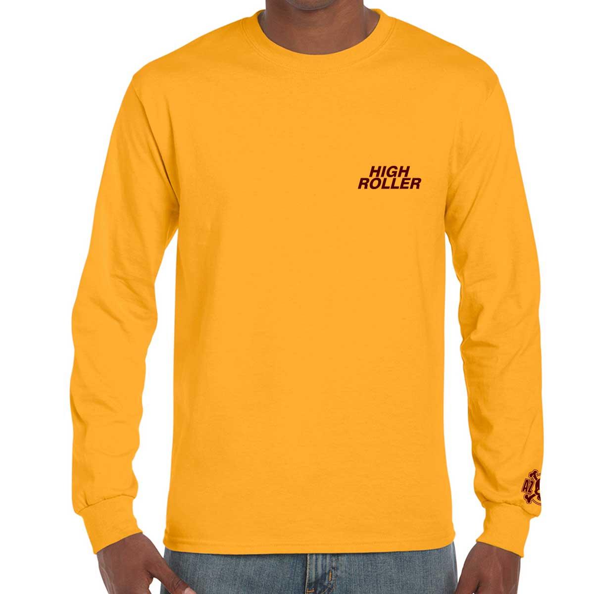 The High Roller Skateboard Park Gold Long Sleeve T-shirt ⋆ AZPX ...