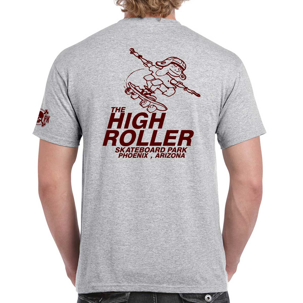 The High Roller Skateboard Park Grey T-shirt