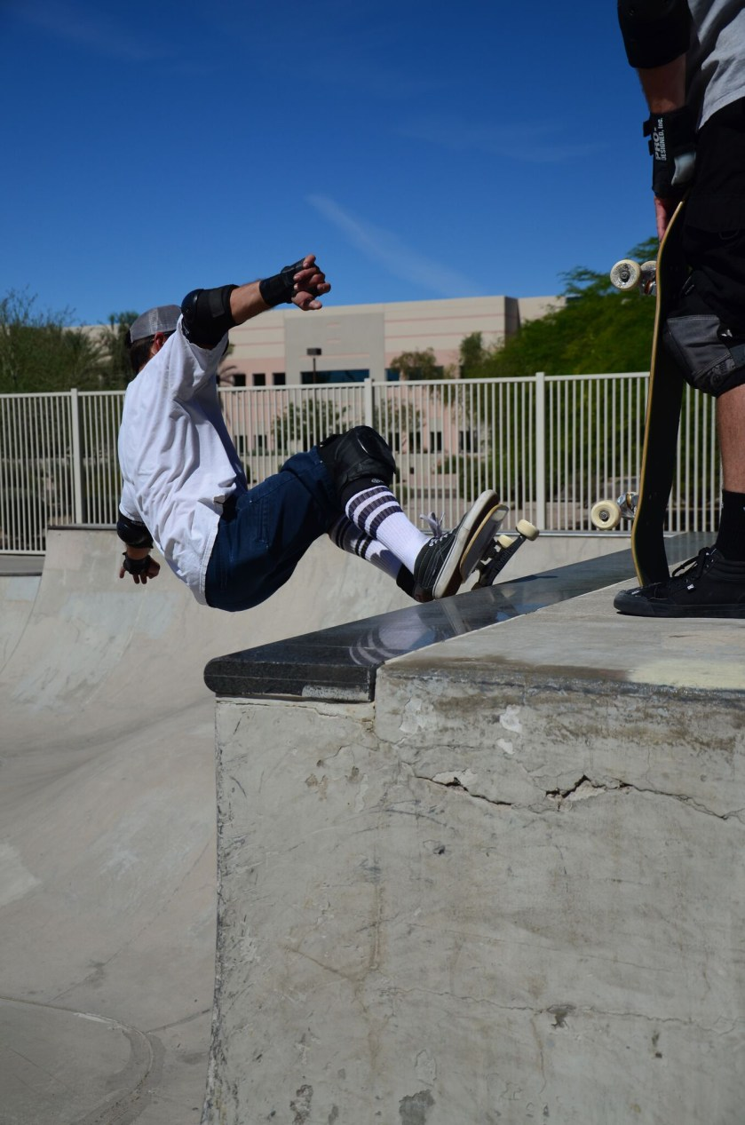 Ryan Swick rips and this granite coping is feeling his wrath.