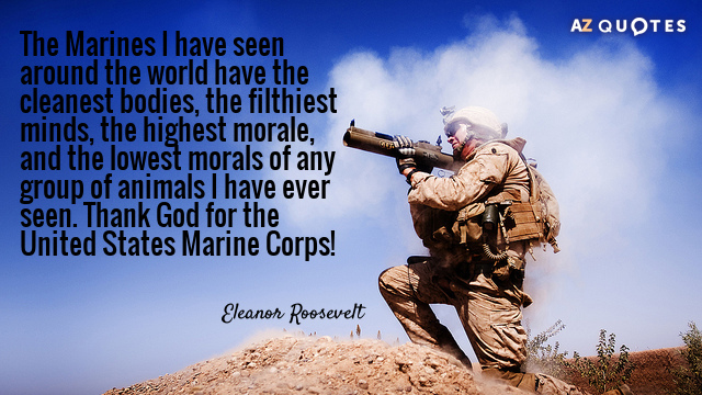 Eleanor Roosevelt Quote About Marines Fair Eleanor Roosevelt Marines Quotes For Fallen Picture