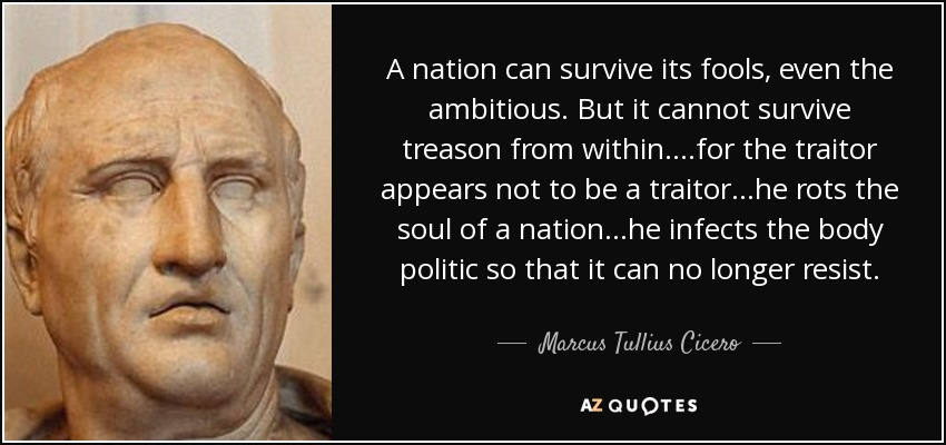 Image result for quotes on treason